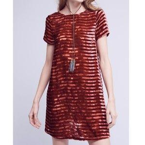 Anthropologie Resolution Velvet Dress